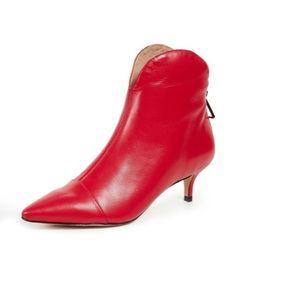 🎉HOST PICK🎉 SCHUTZ rosyen red booties, size 8